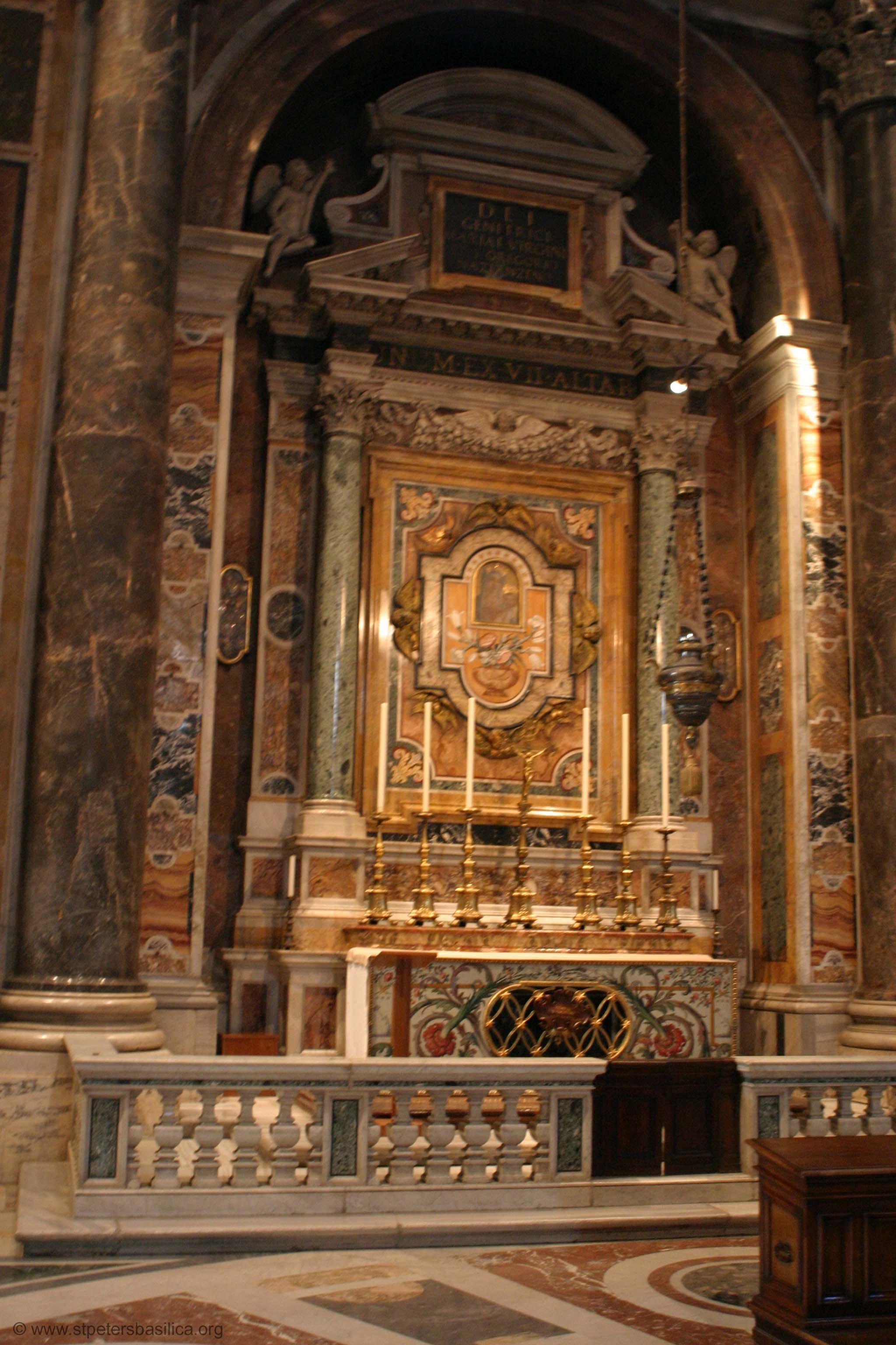 Alteret for Vår Frue av Evig hjelp i Capella Gregoriana i Peterskirken