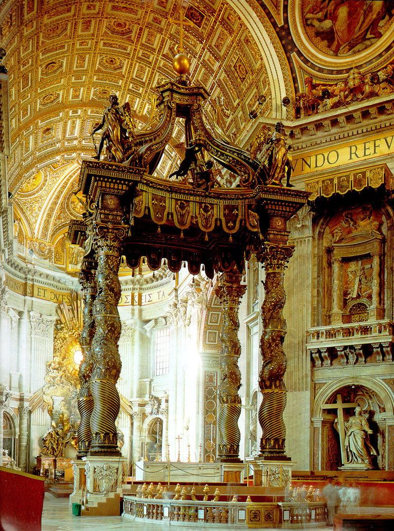 St Peters Papal Altar Baldacchino