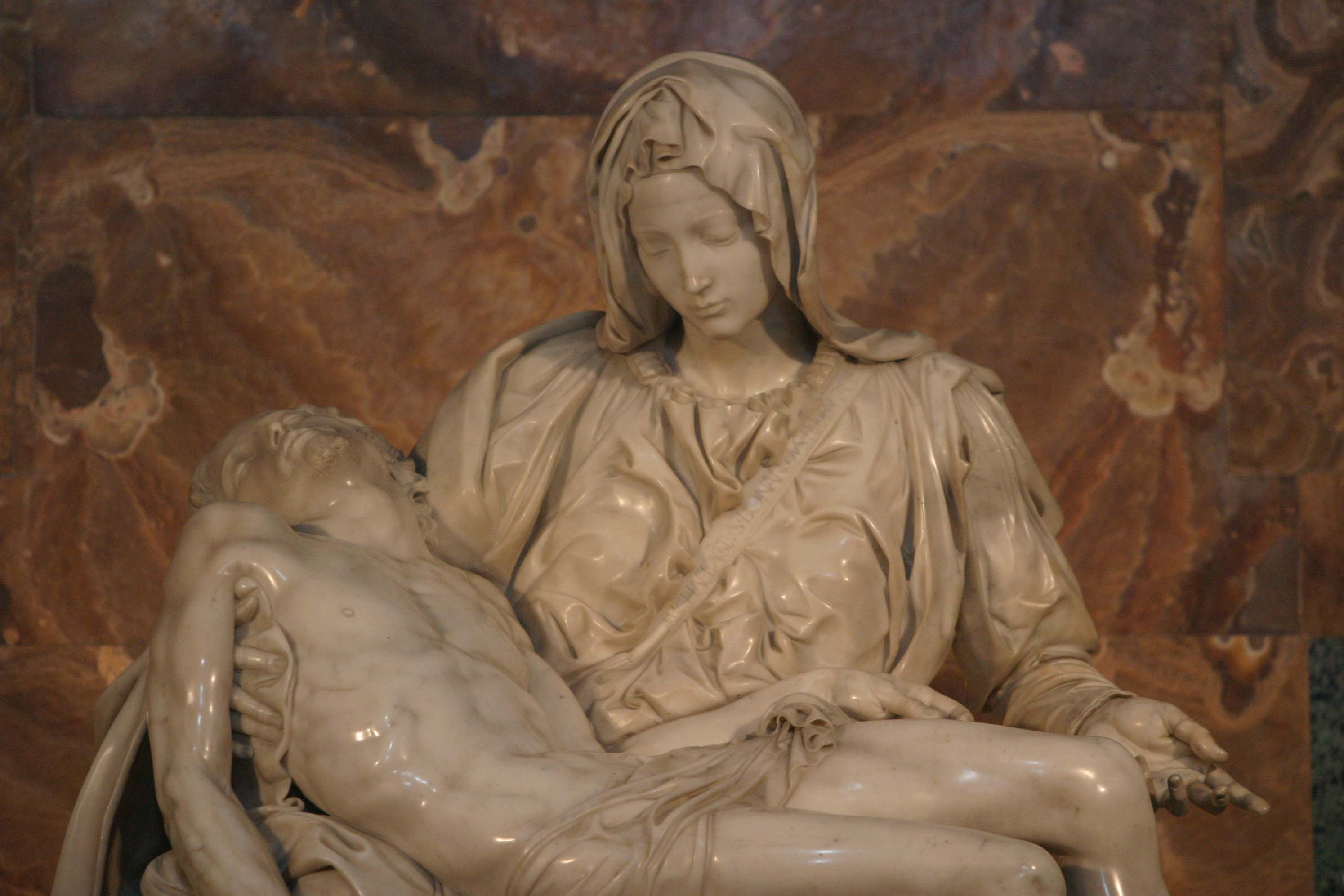 the pieta by michelangelo The pietà (1498–1499) is a warld-famous wirk o renaissance sculptur bi michelangelo buonarroti, hoosed in st peter's basilica, vatican ceety.