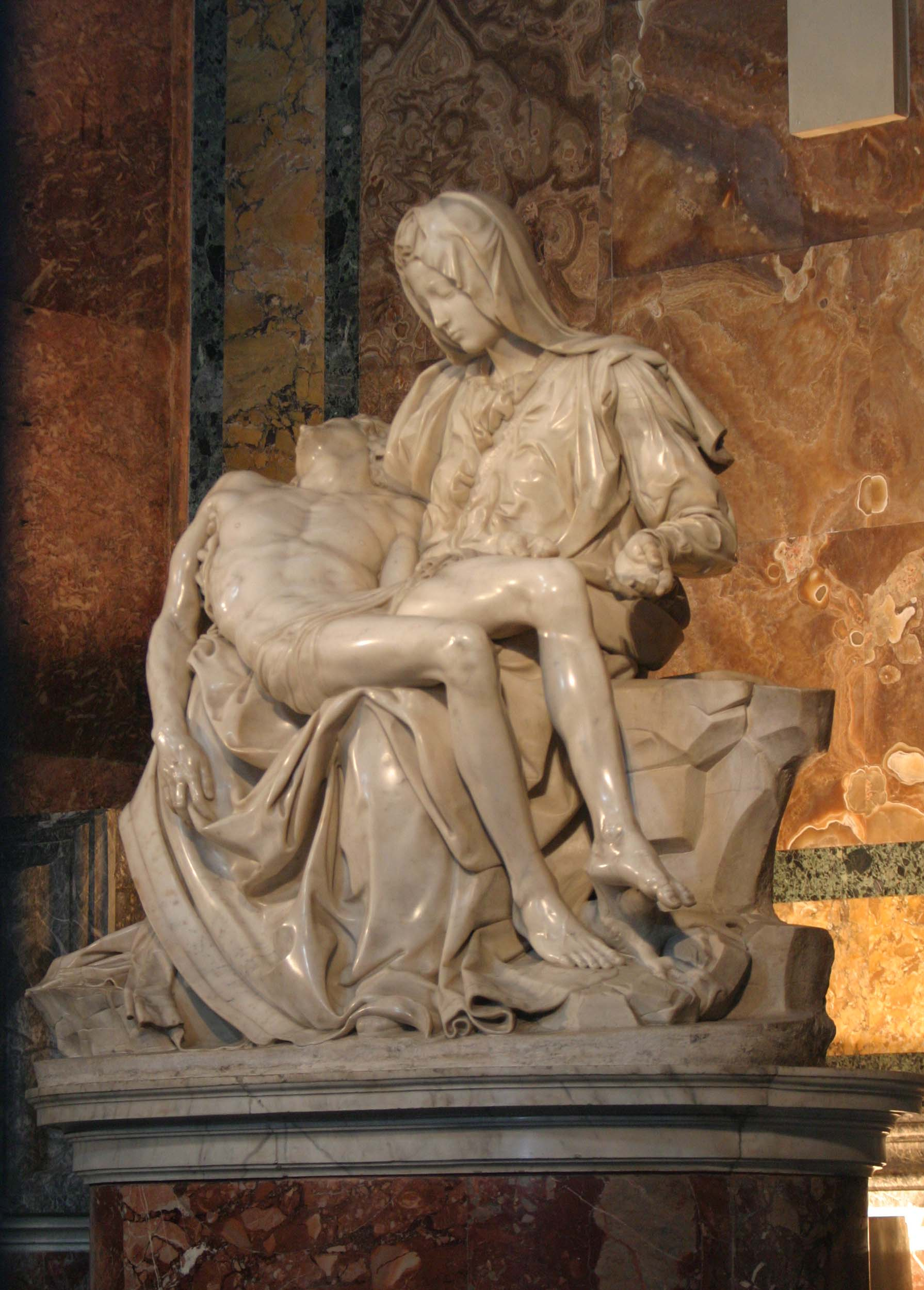 comparing the kiss and pieta scultpures An exhibition for all a replica of the pieta roma  but they were also people with ideas and visions that reached far beyond the world of art.