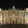 Facade of St Peter's at Night