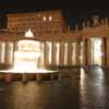 North Fountain - Lights in the Papal Apartment