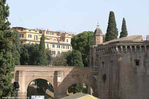 Passetto Entering Castle Sant Angelo