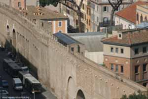 The Passetto between Vatican & Castle S. Angelo