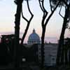 St Peter's at dusk from the Gianicolo