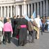 Bishop in Queue to Enter St Peter's