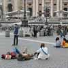 Relaxing in St Peter's Square