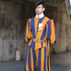 Swiss Guard at St Peter's Vatican Entrance