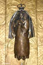 Statue of the Madonna with Child behind the Altar in the Hungarian Chapel
