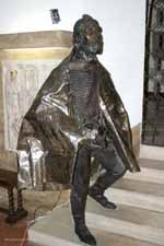 Life-sized bronze statue of St Stephen in the Hungarian Chapel of the Vatican Grottoes