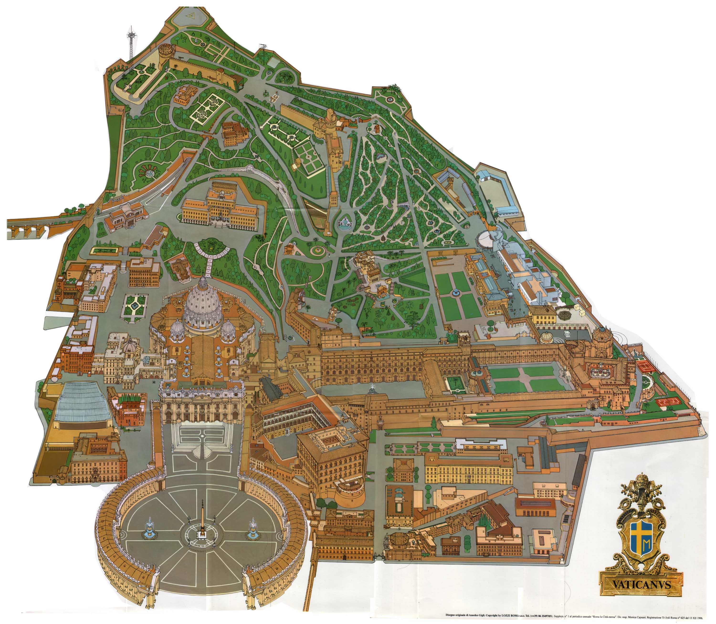 Worksheet. Map of Vatican City