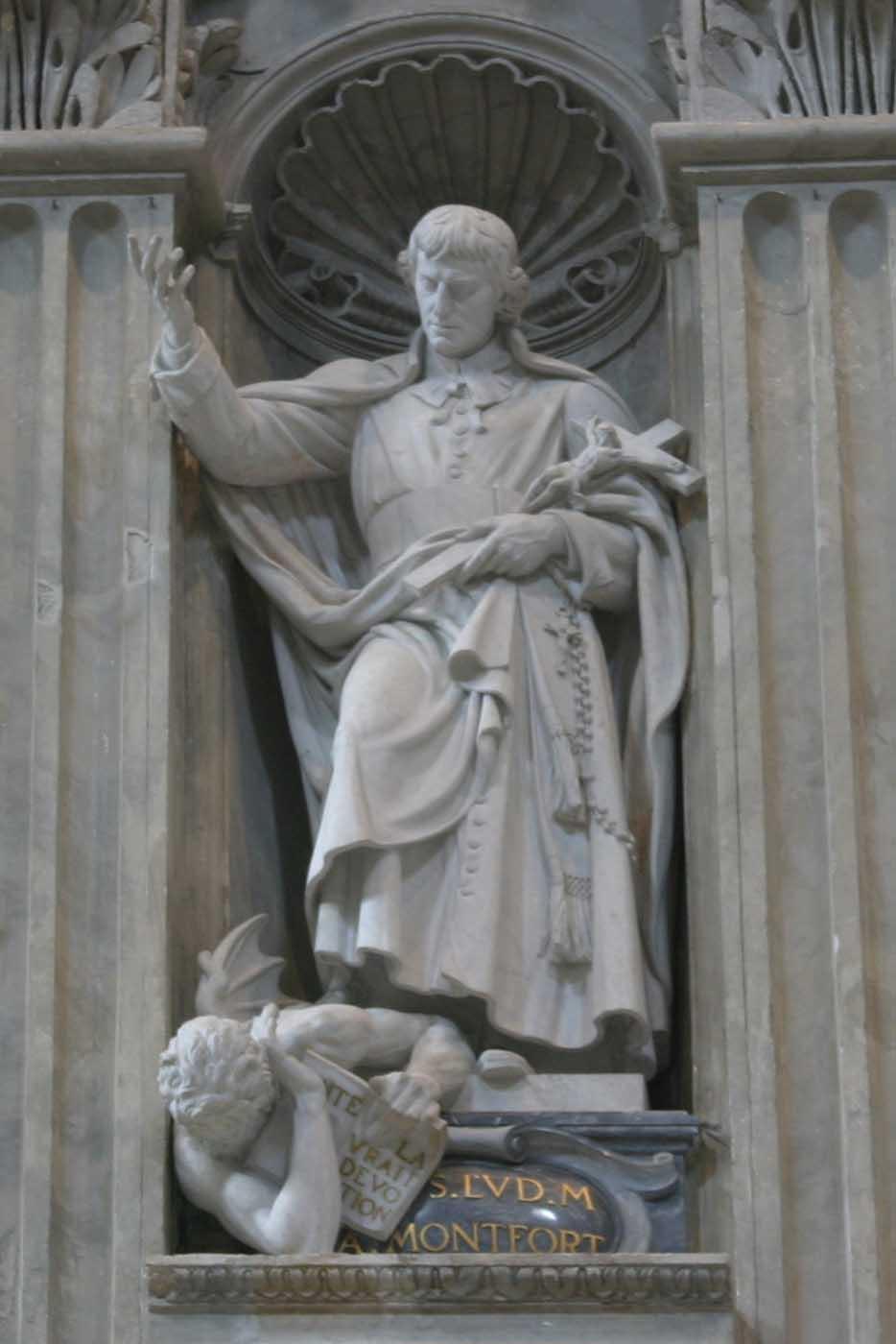 St. Louis de Montfort - Founder Statue