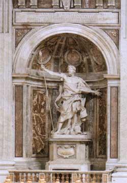 St  Peter's - St Longinus Statue
